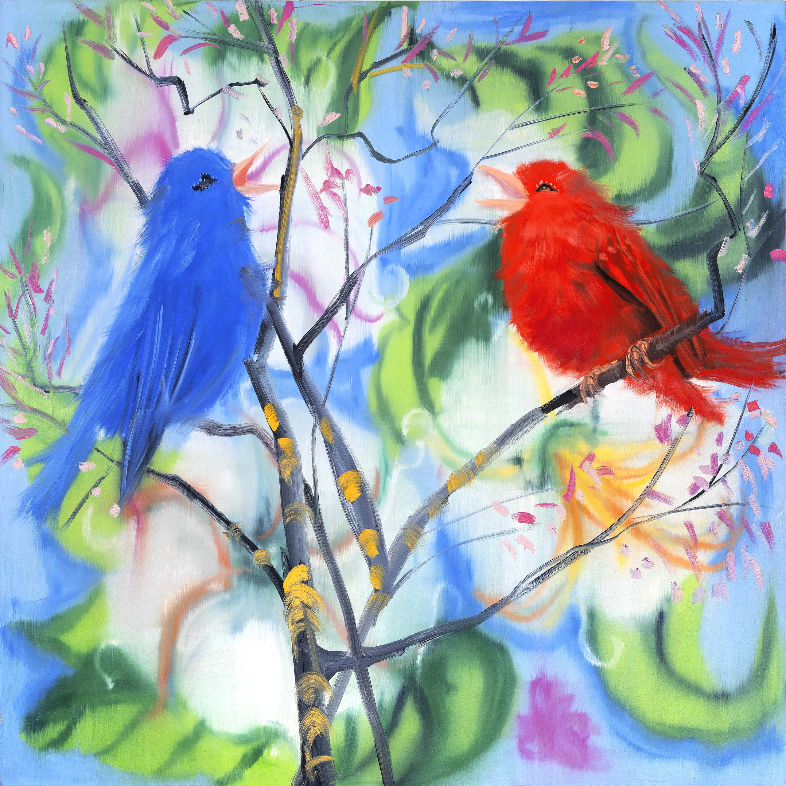 Ann Craven, Portrait of Two Birds (After Picabia)